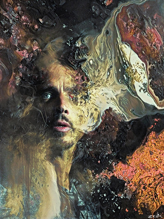 Art Print Painting - Chris Cornell - Cant Change Me by Bobby Zeik