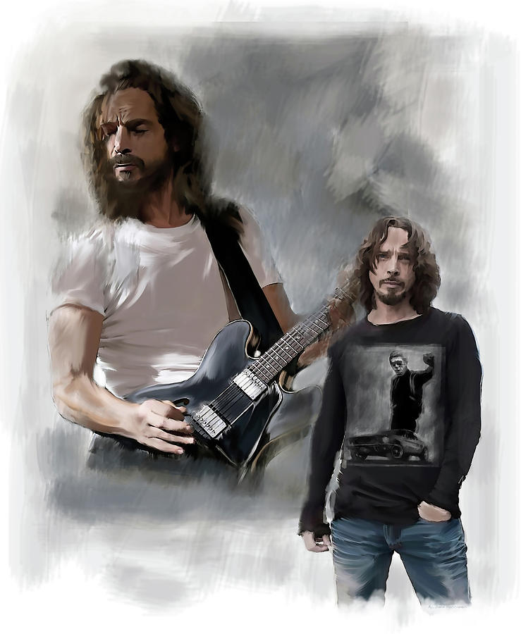 Chris Cornell  by Iconic Images Art Gallery David Pucciarelli