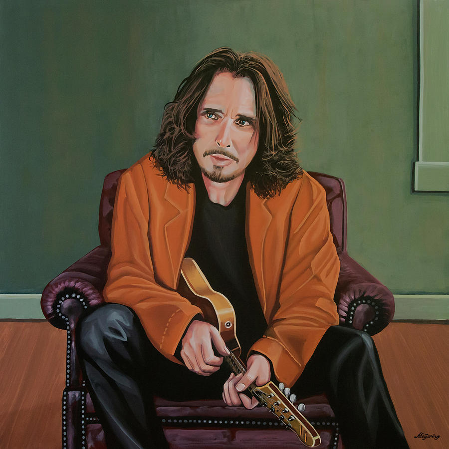 Chris Cornell Painting by Paul Meijering
