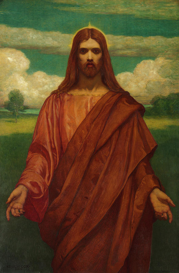 Kenyon Cox Painting - Christ, 1905 by Kenyon Cox