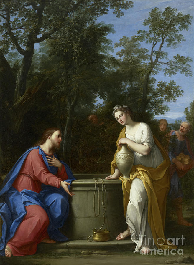 Christ and the Woman of Samaria by Marco Antonio Franceschini