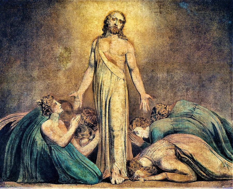 William Blake Painting - Christ Appearing To The Apostles After The Resurrection - Digital Remastered Edition by William Blake