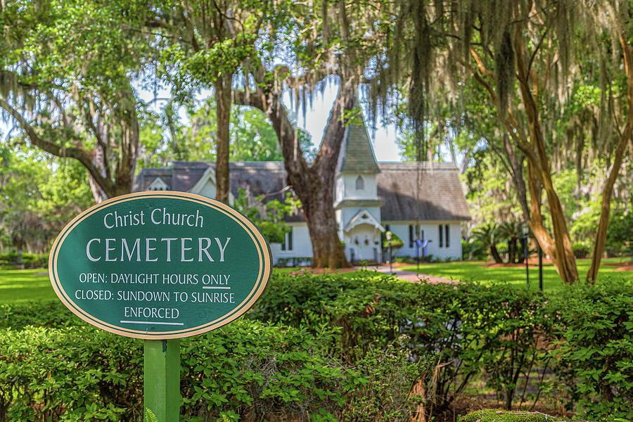 Christ Church Cemetery Sign by Darryl Brooks