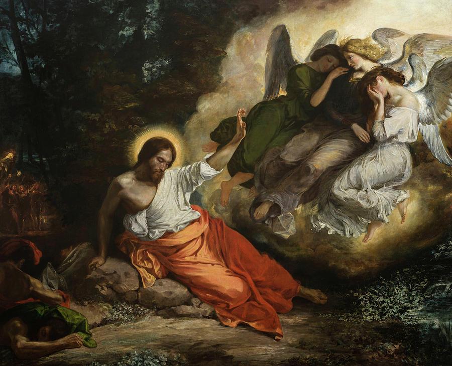 Eugene Delacroix Painting - Christ in the Garden of Olives, The Agony in the Garden by Eugene Delacroix