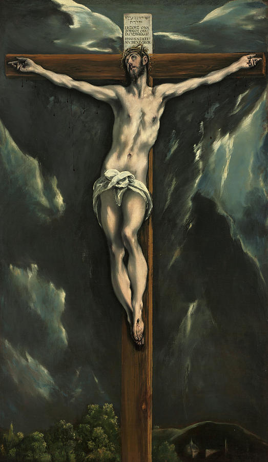 El Greco Painting - Christ On The Cross, 1610 by El Greco