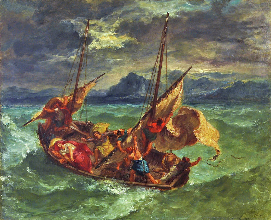 Eugene Delacroix Painting - Christ on the Sea of Galilee - Digital Remastered Edition by Eugene Delacroix