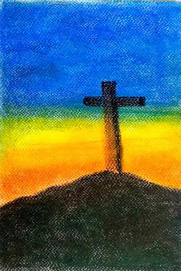 Christian Cross 1 by Asha Sudhaker Shenoy