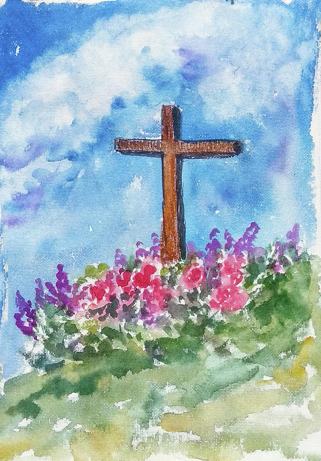 Christian Cross 3 by Asha Sudhaker Shenoy