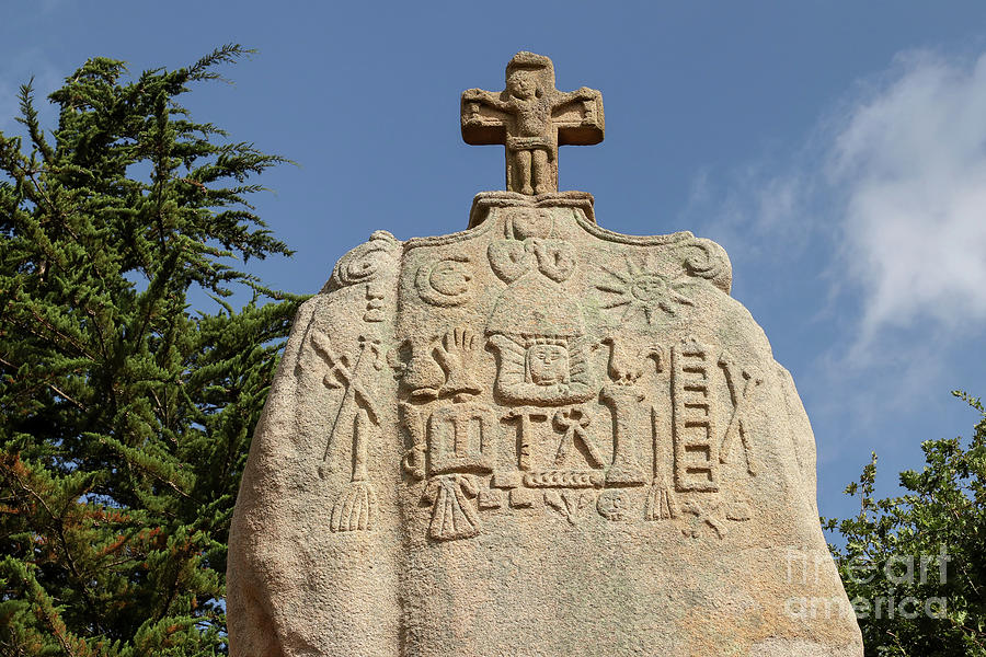 Christianized menhir of Saint-Uzec by Michal Boubin