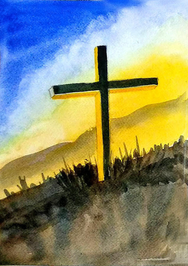 Christian Cross 2 by Asha Sudhaker Shenoy