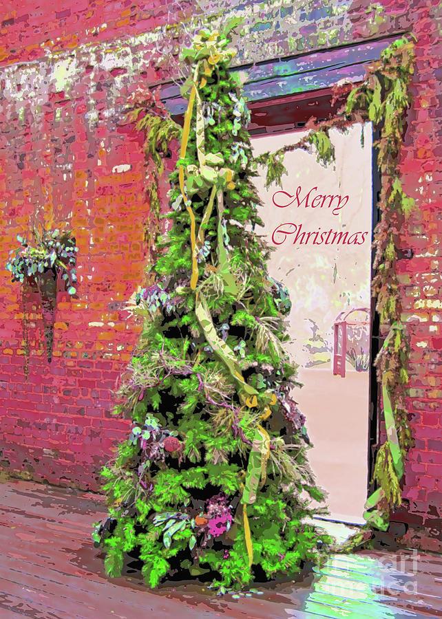 Christmas Photograph - Christmas At The Ruins, 5x7, Cooler Tones by Banyan Ranch Studios
