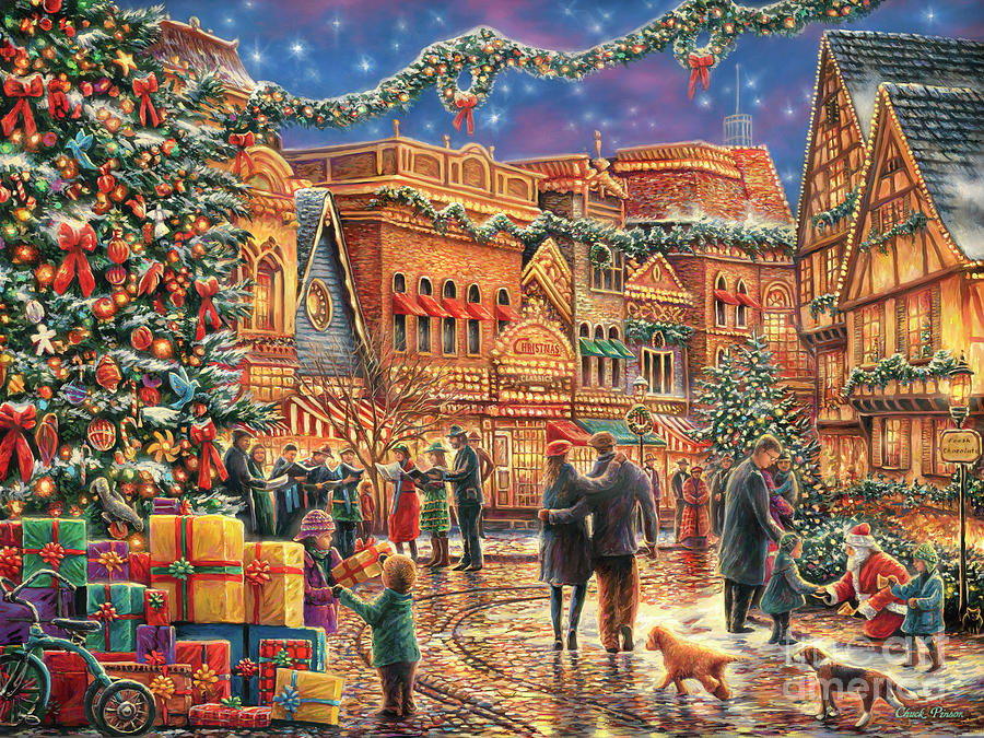 Christmas at Town Square by Chuck Pinson
