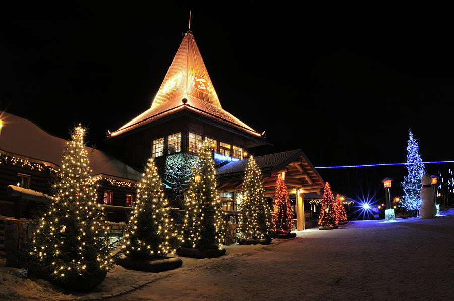 Christmas Decorated Town Photograph by Csondy