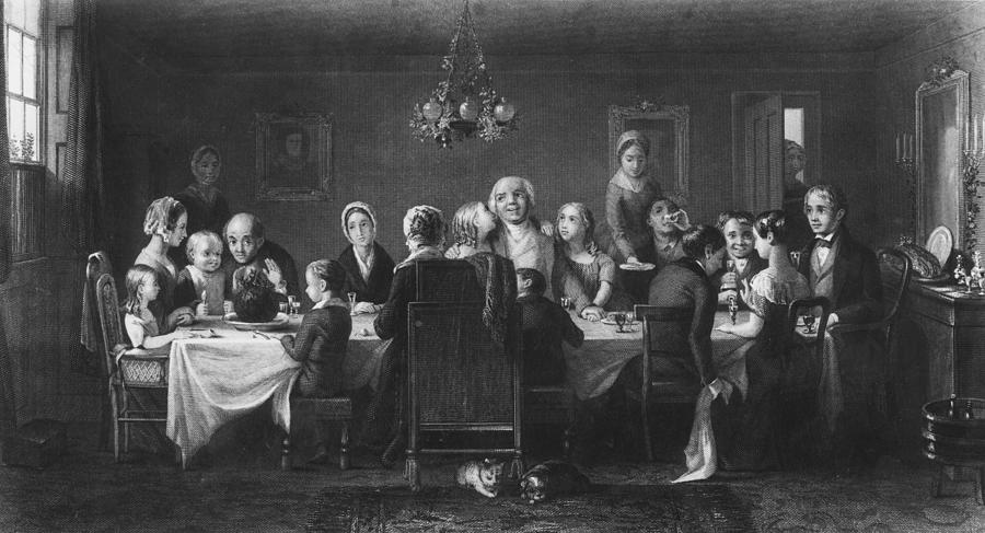 Christmas Dinner Photograph by Hulton Archive