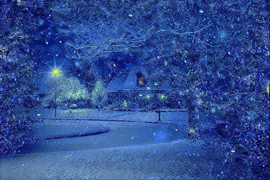 Christmas Digital Art - Christmas Eve by Alex Mir