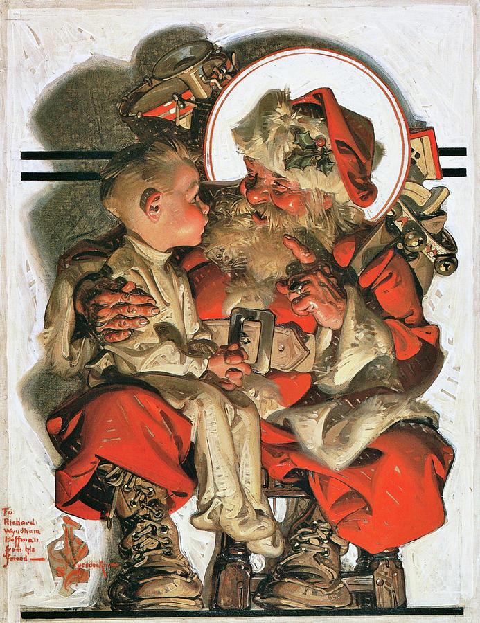 Joseph Christian Leyendecker Painting - Christmas Eve - Digital Remastered Edition by Joseph Christian Leyendecker