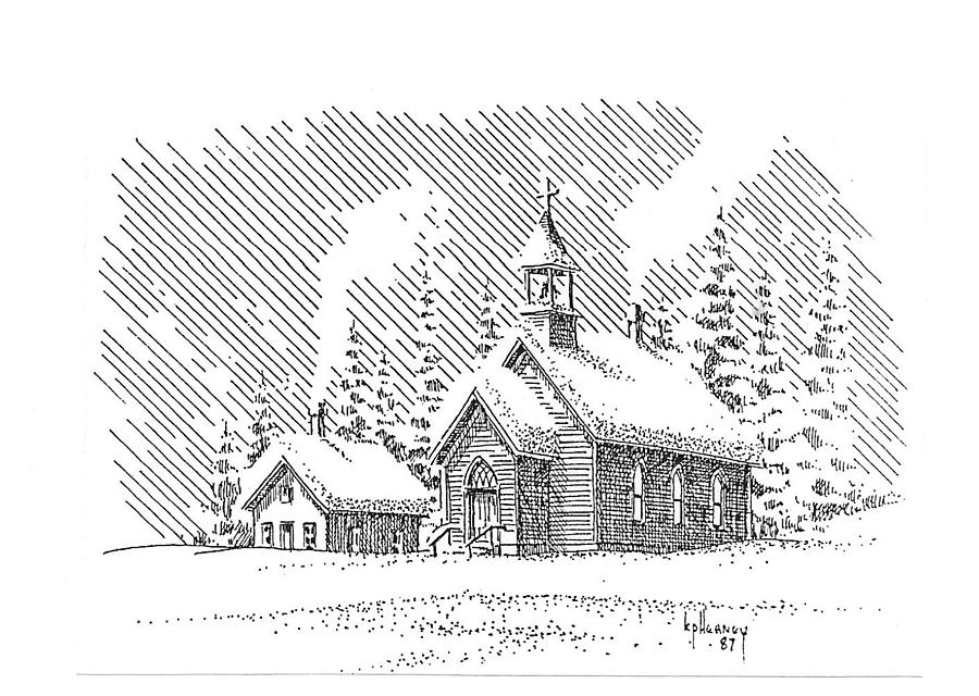 Christmas Drawing - Christmas Eve by Kevin Heaney