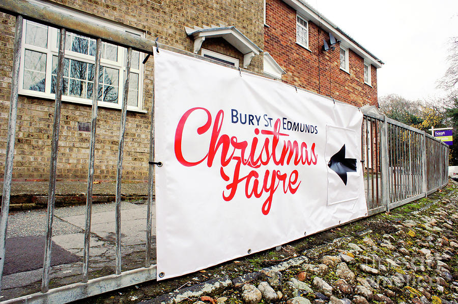 Annual Photograph - Christmas Fayre Sign by Tom Gowanlock