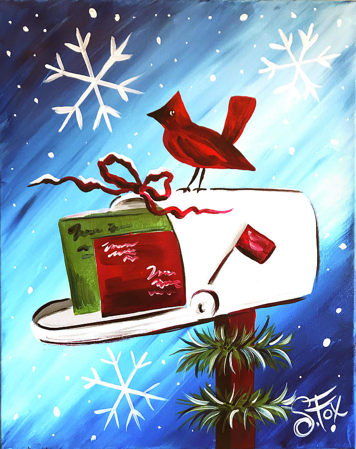 christmas greetings painting by paint party online