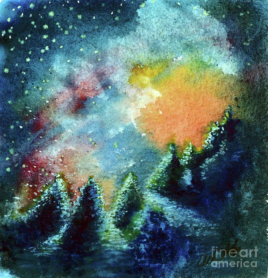 Christmas Night Painting
