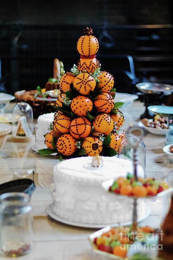 Christmas Oranges Photograph