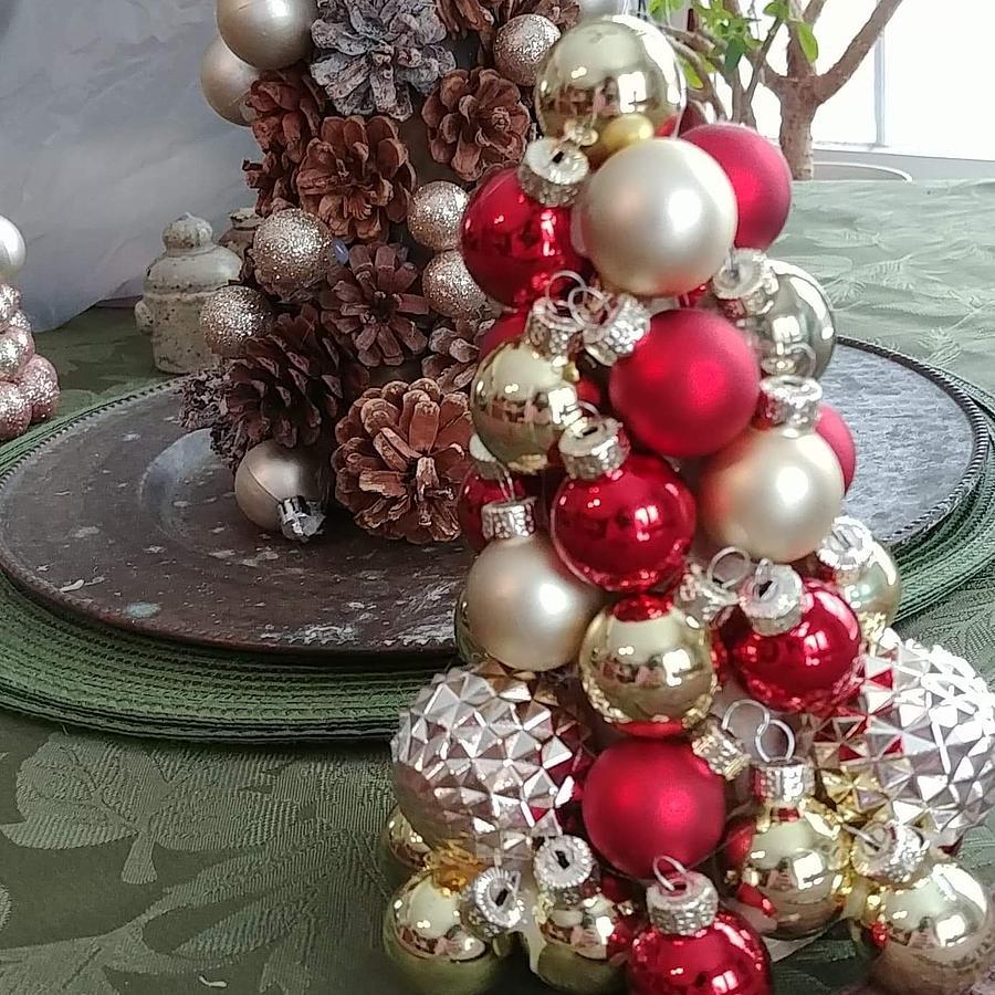 Christmas Ornament Tree Digital Art by Jennifer Lawrence