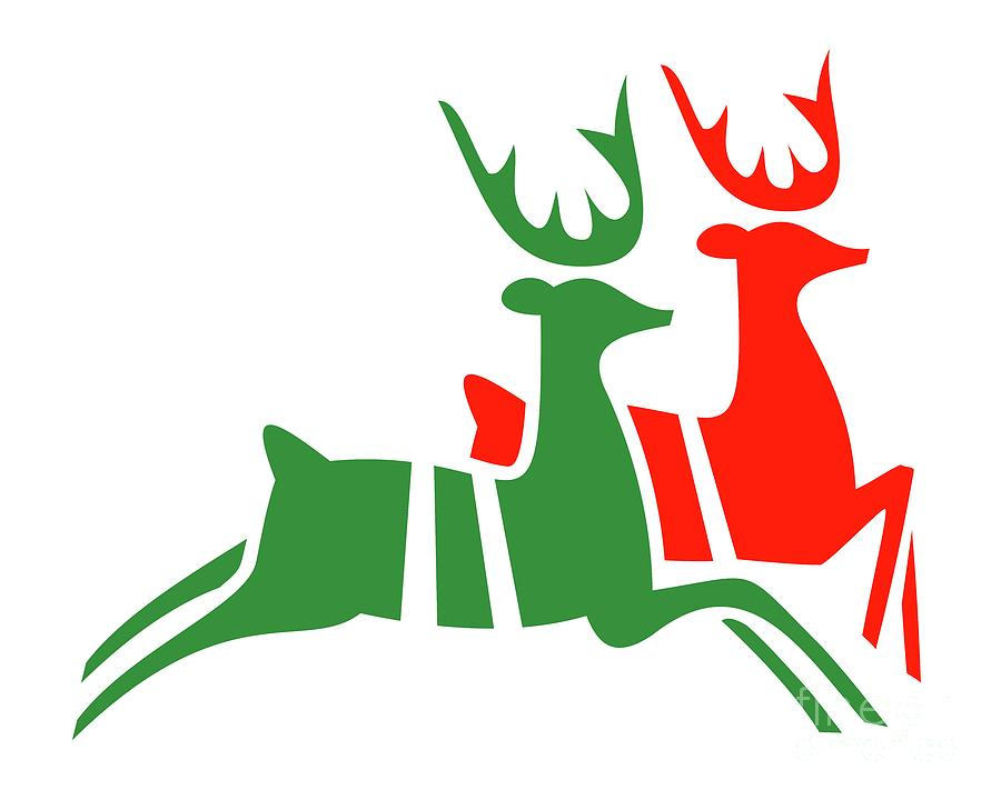 Christmas Reindeer by Donna Mibus