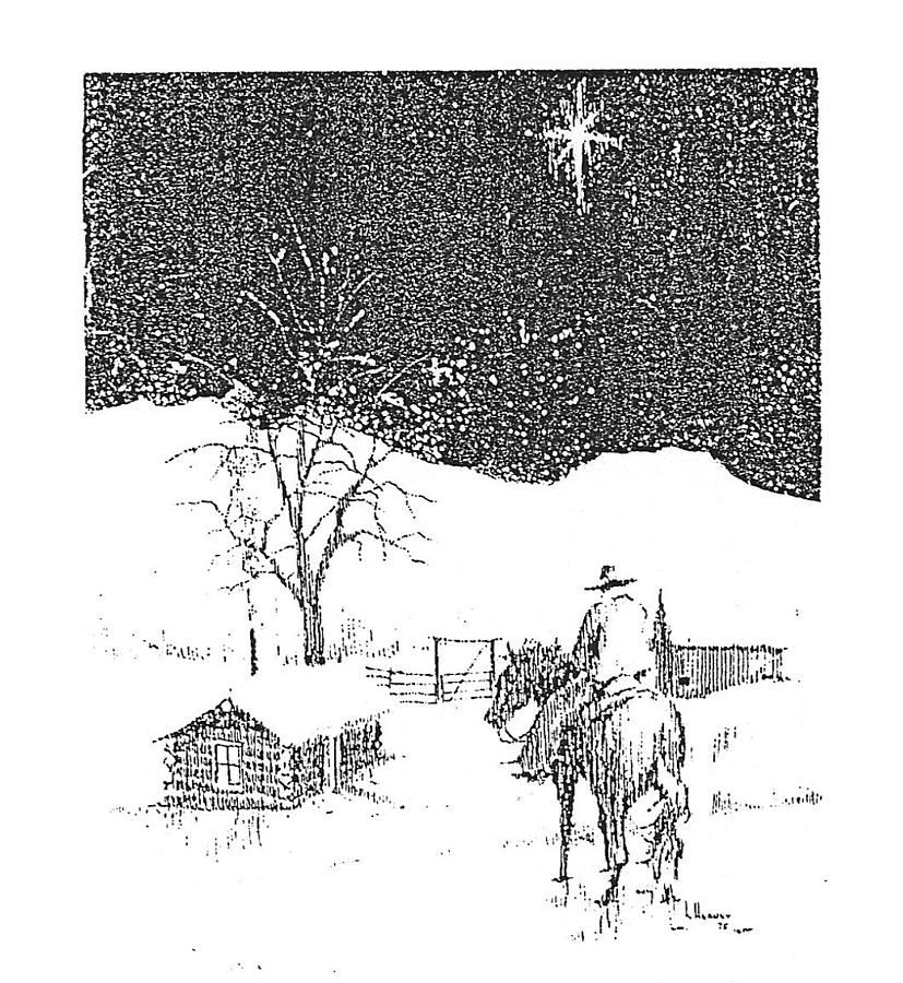 Christmas Star Drawing - Christmas Star by Kevin Heaney