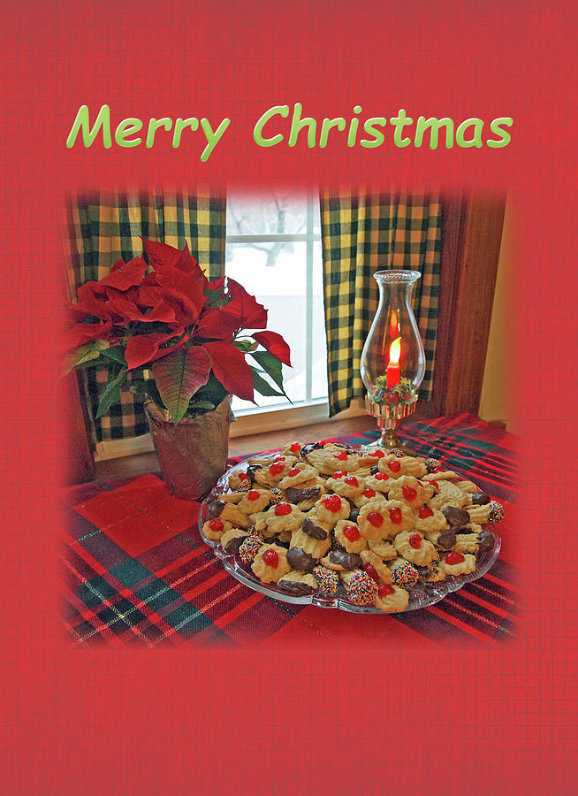 Christmas Table Setting with Freshly Baked Cookies by Jacqueline Sleter