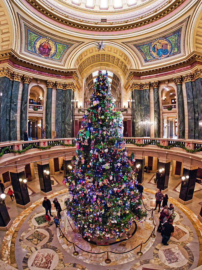 Christmas Tree -Capitol - Madison - Wisconsin 2 by Steven Ralser