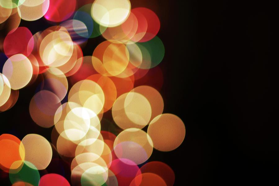 Christmas Tree Lights Photograph by Hillaryfox
