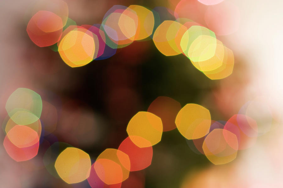 Christmas Tree Lights Photograph by Lloret