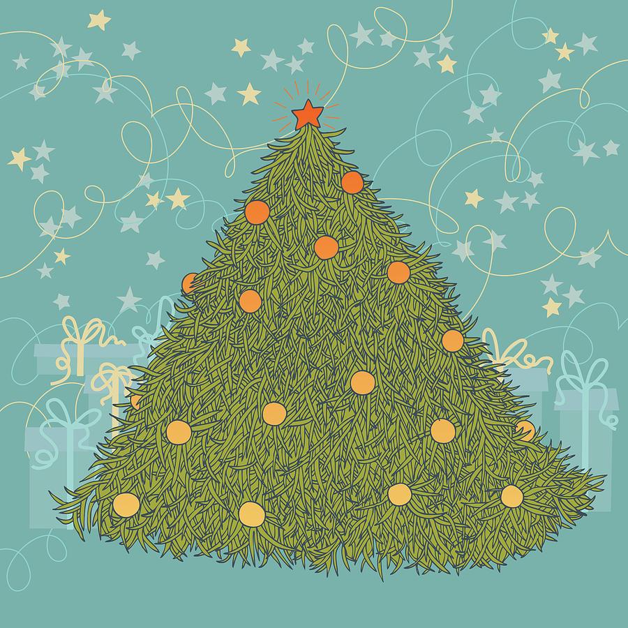 Christmas Tree Digital Art by Nadya Emelyanova