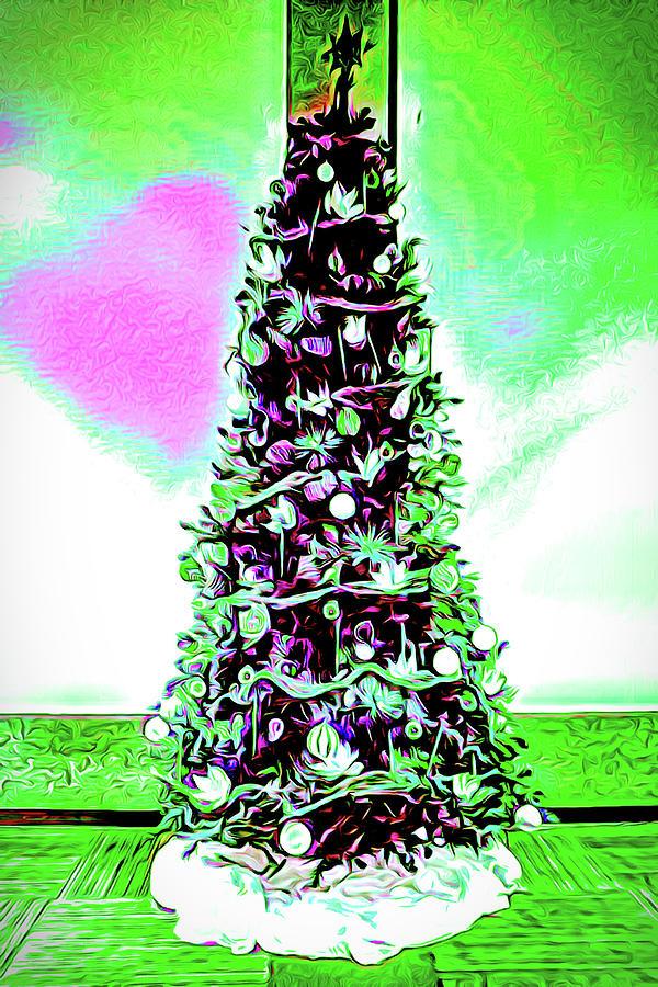 Christmas Tree Pink Heart by Joe Lach