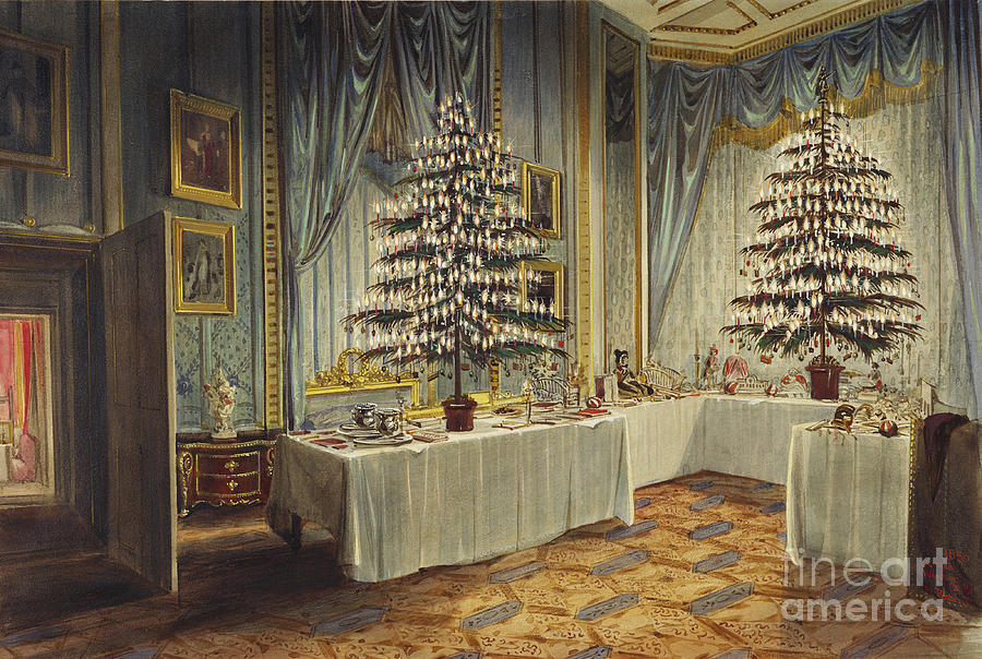 Christmas Trees Of The Duchess Of Kent Drawing by Heritage Images
