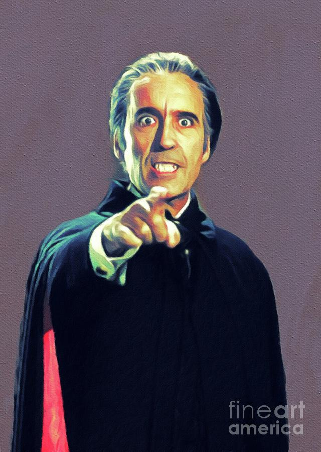 Christopher Painting - Christopher Lee As Dracula by John Springfield