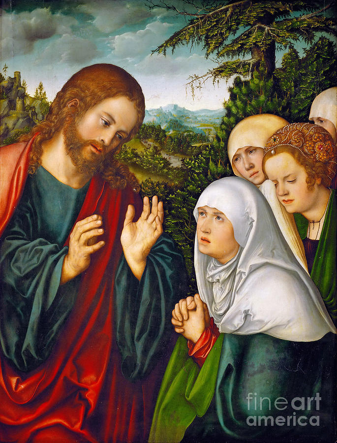 Christs Farewell To The Holy Women Drawing by Heritage Images