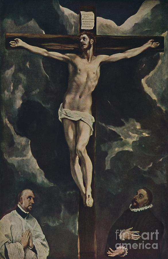 Christus Am Kreu Drawing by Print Collector