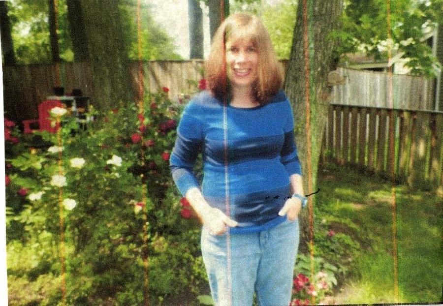 Christy in Backyard by Elinor Helen Rakowski