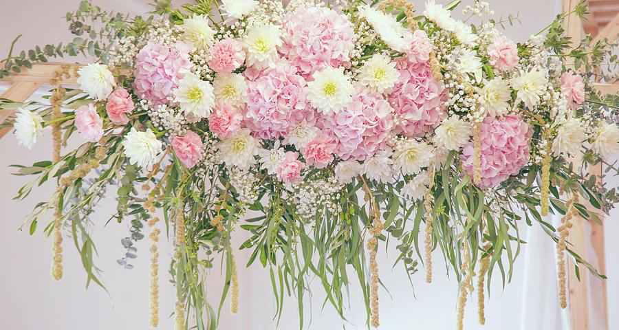 Chrysanthemum Dahlias Hydrangea Wedding Decor