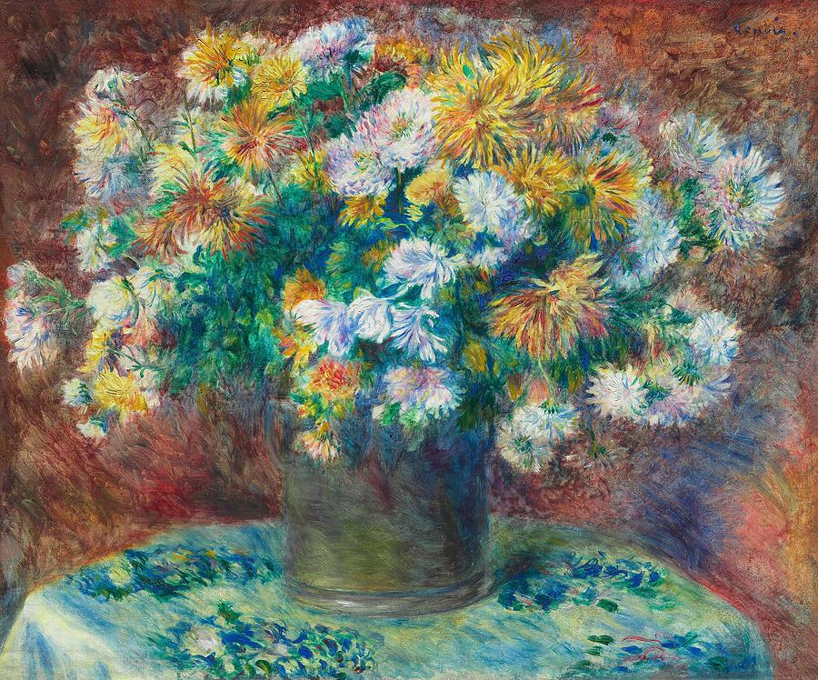 Chrysanthemums by Auguste Renoir