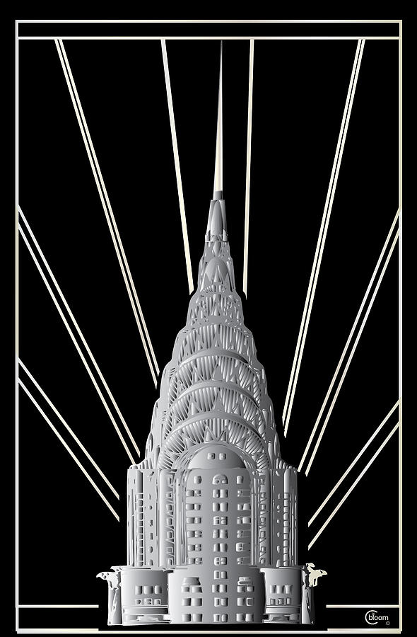 Chrysler Building Art Deco Silver Crown by Cecely Bloom