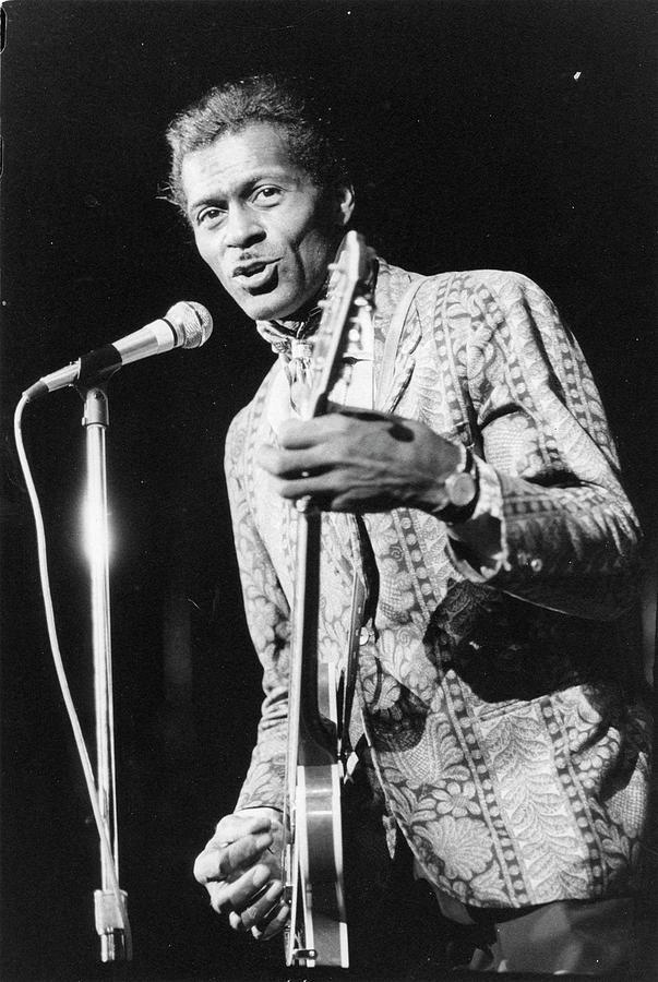 Chuck Berry At Msgs Felt Forum Photograph by Fred W. McDarrah