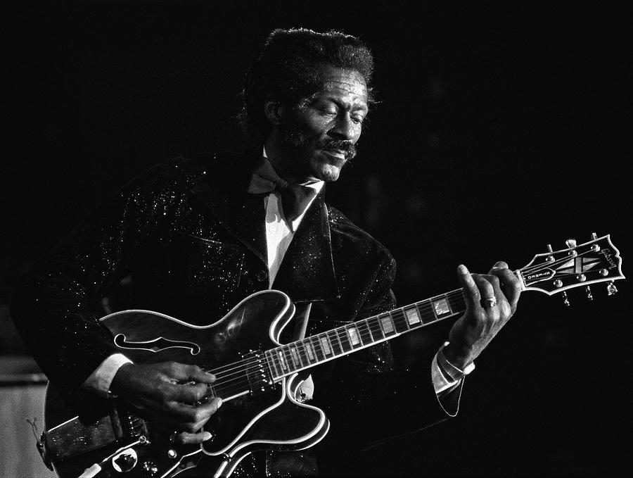 Chuck Berry In Concert At The Palladium Photograph by George Rose