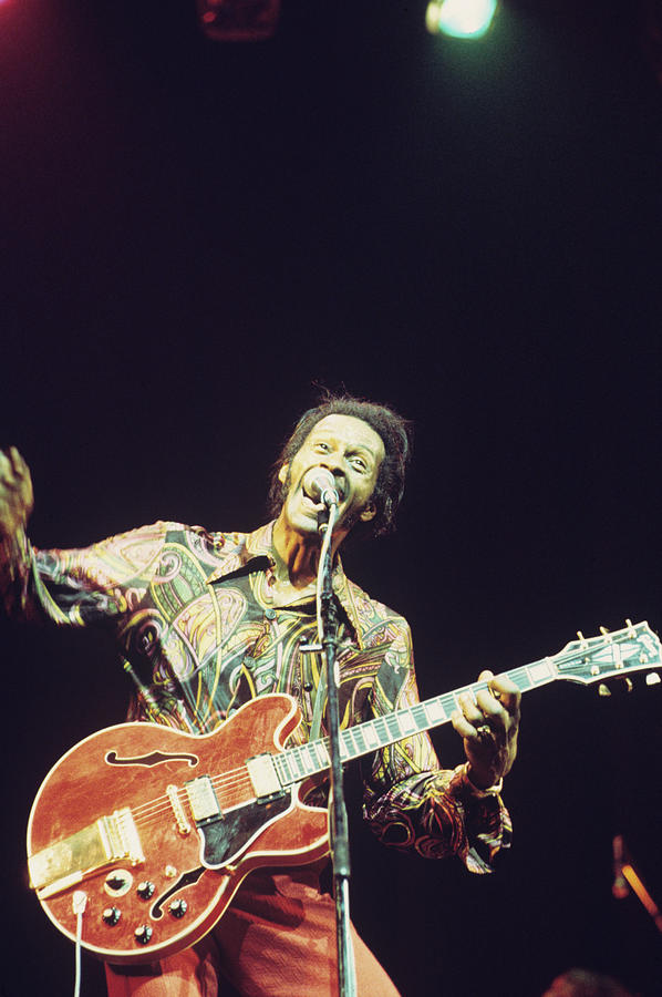 Chuck Berry Performs On Stage Photograph by Andrew Putler