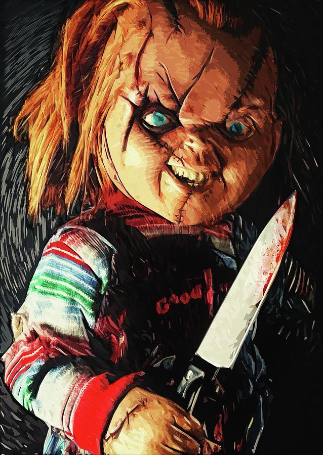 Chucky Digital Art - Chucky by Zapista OU