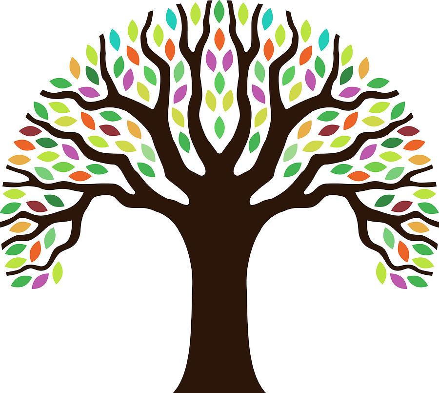 Chunky Little Tree Illustration Digital Art by Johnwoodcock
