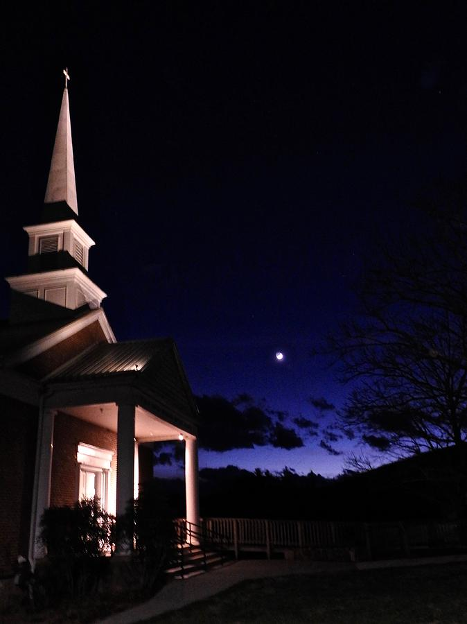 Church and Moon by Kathy Ozzard Chism