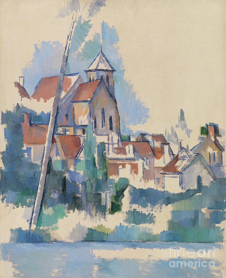 Roof Painting - Church At Montigny Sur Loing, 1898  by Paul Cezanne