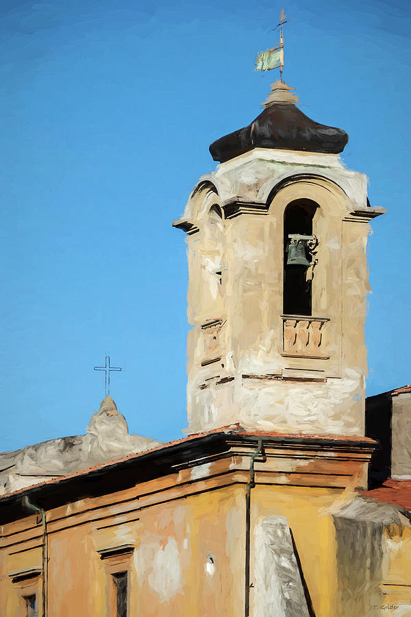Church Bell Tower in Rome by TONY GRIDER